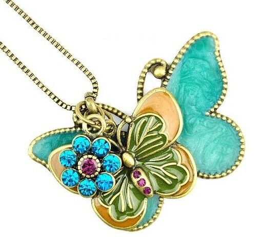 Fashion Jewelry Womens Retro Butterfly Pendant Long Necklace
