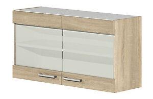 glas h ngeschrank salerno 100 cm sonoma eiche dekor ebay. Black Bedroom Furniture Sets. Home Design Ideas