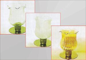 Glasaufsatz-fuer-Kerzenleuchter-Kerzenstaender-Teelichthalter-Windlicht-Partylite