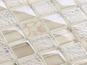 glasmosaik fliesen mosaik crystal pebbles beige creme 8 mm. Black Bedroom Furniture Sets. Home Design Ideas