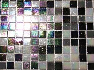 glasmosaik fliesen mosaik perlmutteffekt schwarz weiss grau perlmutt bad 2 14 qm ebay. Black Bedroom Furniture Sets. Home Design Ideas
