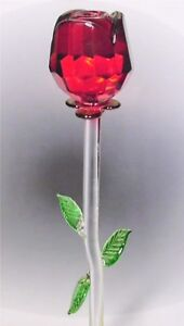 glasrose gro e rose aus glas handarbeit verschiedene farben ebay. Black Bedroom Furniture Sets. Home Design Ideas