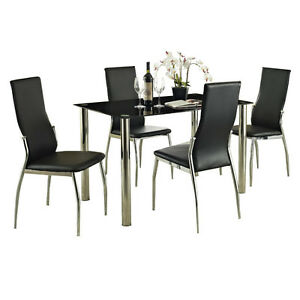 Dining Table Dining Table Glass 4 Chairs
