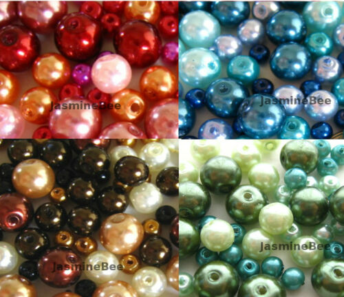 Glass Faux Pearls Loose Beads Round 4/6/8mm*120+pcs in Crafts, Beads & Jewelry Making, Beads, Pearls & Charms | eBay