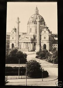 Glass-Magic-lantern-Slide-KARLSKIRCHE-C1900-VIENNA-AUSTRIA