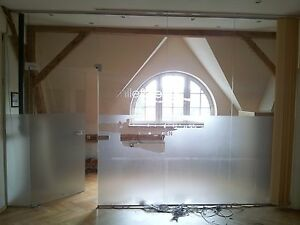 glastrennwand mit glast r glaswand trennwand raumteiler ebay. Black Bedroom Furniture Sets. Home Design Ideas