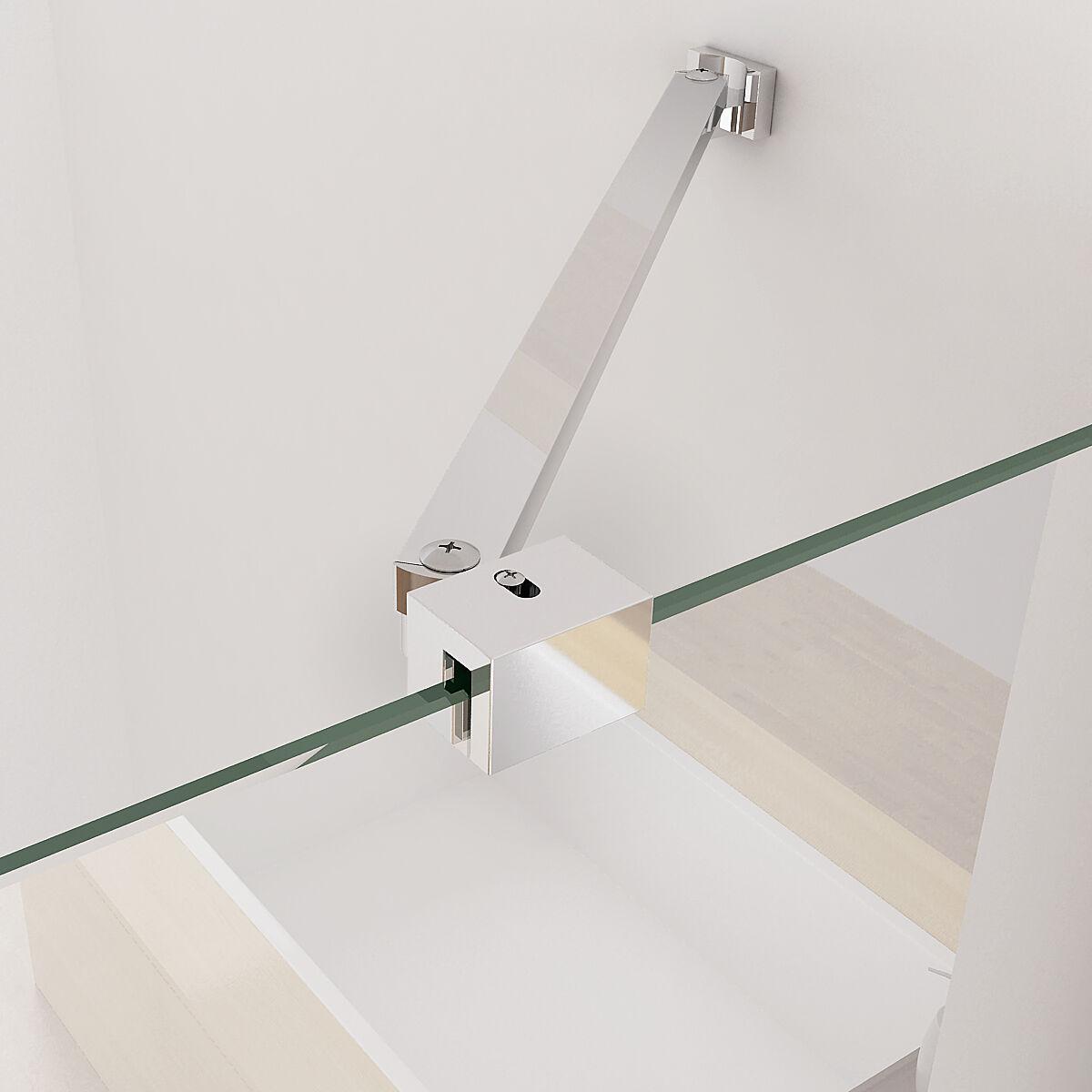 glaswand stabilisator haltestange f r duschabtrennung walk in dusche 70 120cm cc ebay. Black Bedroom Furniture Sets. Home Design Ideas