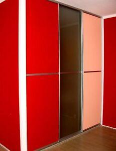 gleitt r bausatz f r 3 t ren inkl schienen f r 10 mm plattenmaterial ebay. Black Bedroom Furniture Sets. Home Design Ideas