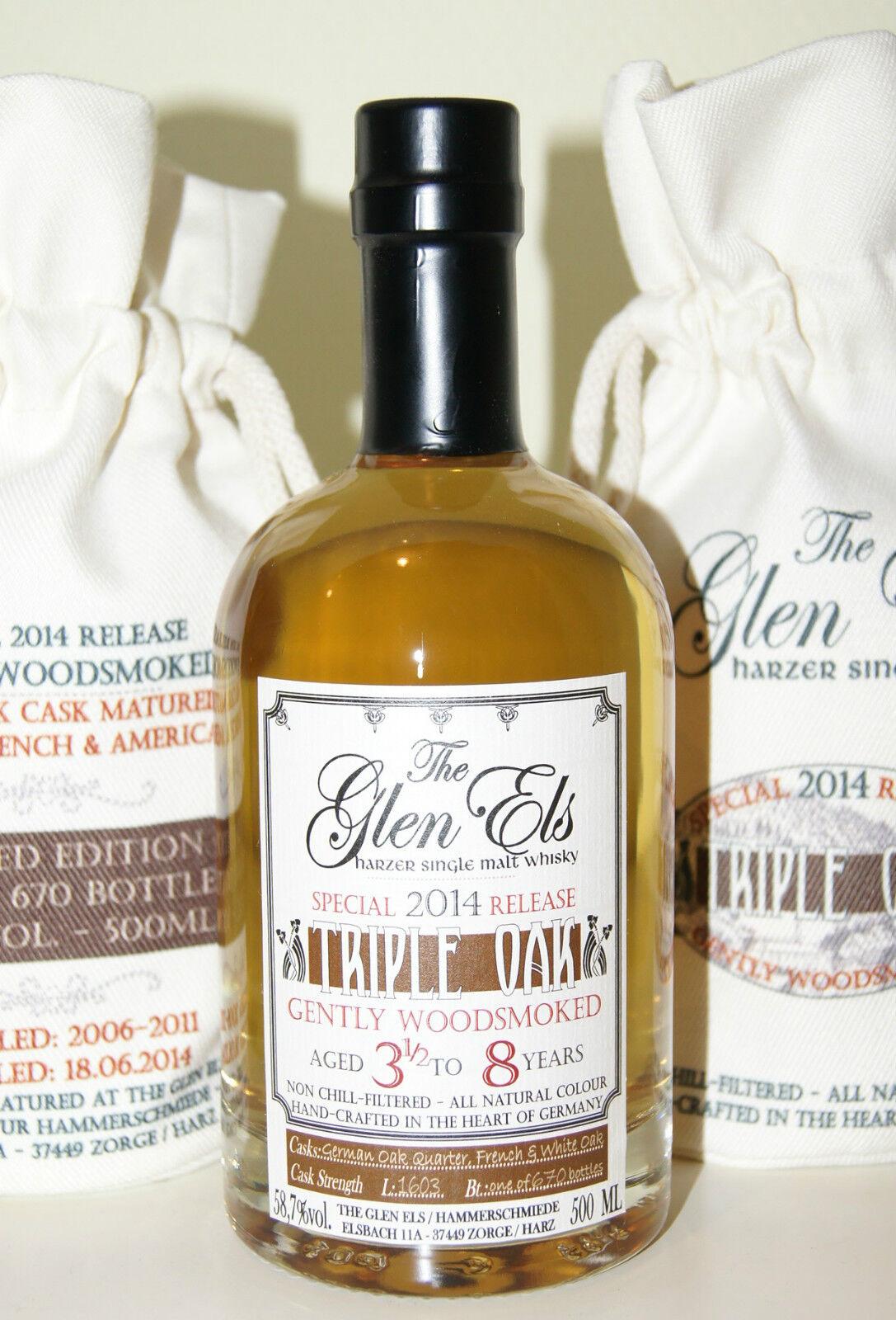Glen Els - Ember Whisky (WOODSMOKED) 45,9% vol. - 0,7 Liter