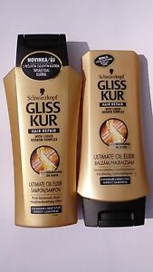 gliss kur ultimate oil elixir hair repair shampoo. Black Bedroom Furniture Sets. Home Design Ideas
