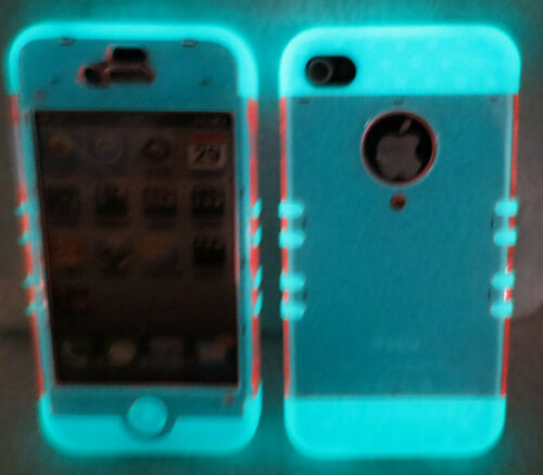 Glow In the Dark Transparent Light Pink iPhone 4 4S Case ishield Hybrid Snap On in Cell Phones & Accessories, Cell Phone Accessories, Cases, Covers & Skins | eBay