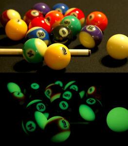 glow in the dark pool balls billiard balls full set ebay