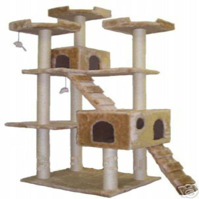 Go pet club jungle gym cat scratch tree furniture for Pictures of cat trees