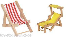 goki puppenliegestuhl liegestuhl f r biegepuppen puppenhaus gartenm bel holz ebay. Black Bedroom Furniture Sets. Home Design Ideas