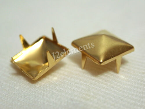 Gold Pyramid Studs Rock Design spikes spots heavy duty Home Leathercraft Access in Crafts, Home Arts & Crafts, Leathercraft | eBay