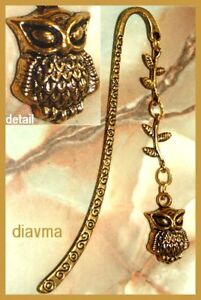 Golden OWL bird 8cm Metal Bookmark in Books, Magazines, Accessories, Gift Books, Bookmarks | eBay