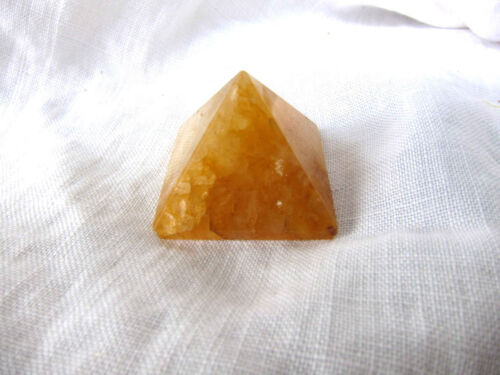 Golden Quartz Pyramid QTY - 1 PIECE 25 mm Healing Crystal Reiki Energy in Everything Else, Metaphysical, Crystal Healing | eBay