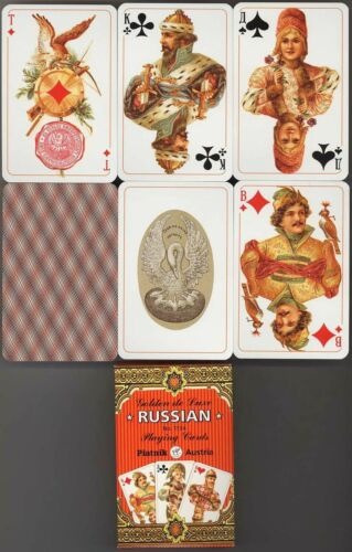 Golden deLuxe Russian playing cards Piatnik # 1134 NEW in Collectibles, Paper, Playing Cards | eBay