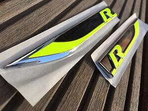 golf 7 r neon gelb emblem folien schriftzug sticker. Black Bedroom Furniture Sets. Home Design Ideas