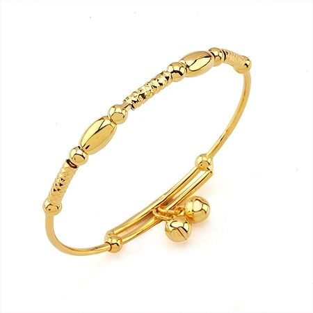 Gorgeous 9k real gold filled girls'/baby bell bangle in Jewelry & Watches, Children's Jewelry, Bracelets | eBay