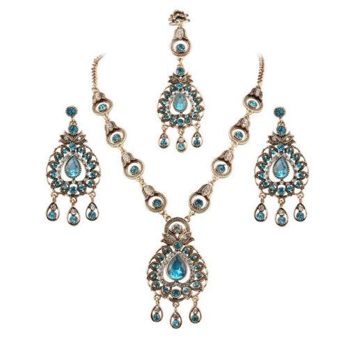 Gorgeous Indian Bridal Sapphire Jewellery Maang Tikka Headpiece 3