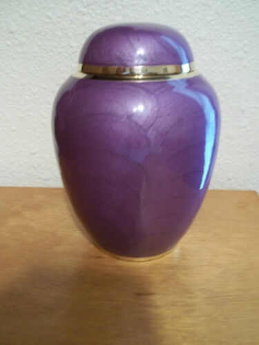 """Gorgeous Purple Pearl Small Brass Urn~5"""" ~up to 32 lbs~Infant or Child~Pet in Everything Else, Funeral & Cemetery, Cremation Urns 