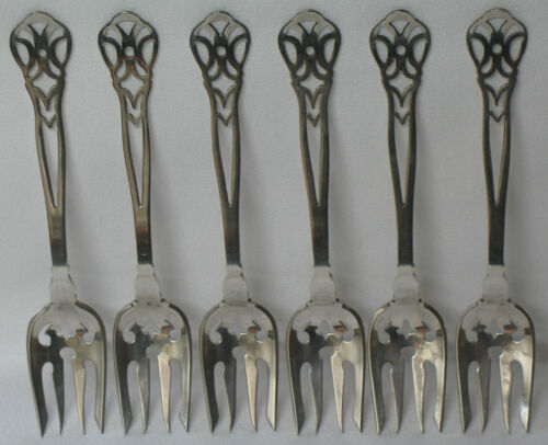 Gorham H Series # 384 Sterling Silver Ramekin Fork set of 6 in Antiques, Silver, Sterling Silver (.925) | eBay
