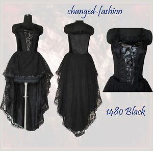 Black Dress on Gothic Corset Dress Long Black Victorian Sale 1480 S M   Ebay