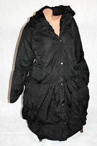 gr 58 60 damen wintermantel mantel parka lang steppmantel gerafft schwarz 0667 ebay. Black Bedroom Furniture Sets. Home Design Ideas