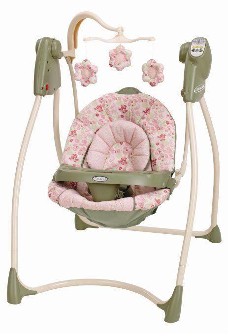 Graco Lovin Hug Baby Infant Swing w Music Mobile Ellie 1785118