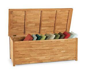 grade a teak wood storage box pillow cushion pool outdoor