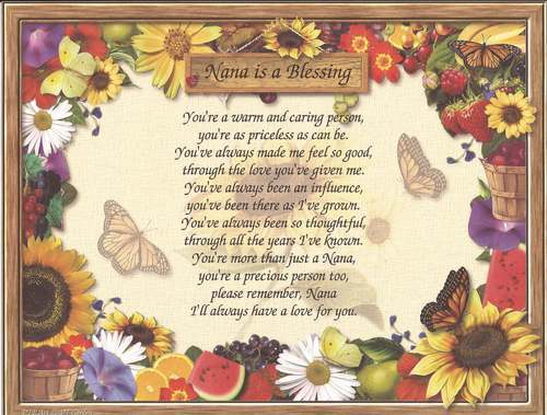 Nana Personalized Poem Print  A Gift to Be Treasured for Any Occasion
