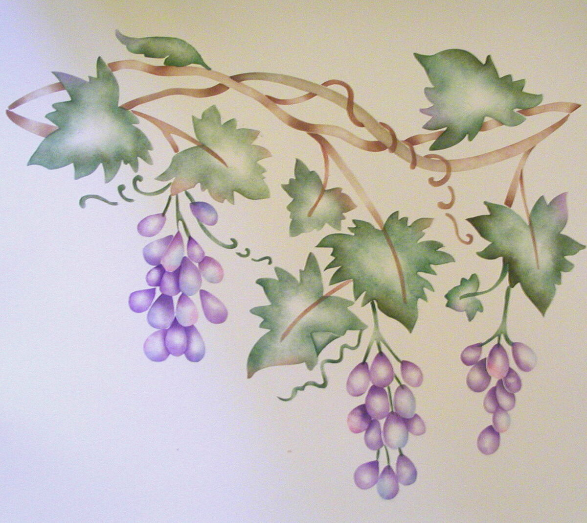 Grape vine border painting stencil wall stencil on popscreen - Border stencils for painting ...