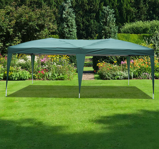 Outsunny 10' x 20' Easy Pop Up Canopy Gazebo Party Tent  Dark Green at Sears.com