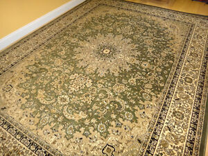 Green Persian Design Soft 8x11 Oriental Rug 8x10 Carpet Tabriz Style