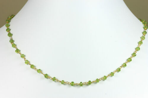 Green Vesuvianite Faceted Necklace beaded Vermeil gold 14k chain Necklace in Jewelry & Watches, Handcrafted, Artisan Jewelry, Necklaces & Pendants | eBay