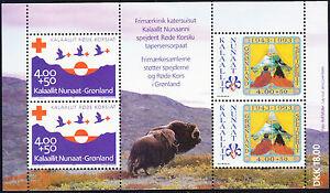 Greenland-1993-Scout-Red-Cross-Scott-B18a-MNH-Souvenir-Sheet