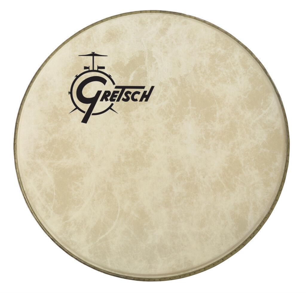 gretsch 26 fiberskyn off center logo bass drum head gpfibero 26 ebay. Black Bedroom Furniture Sets. Home Design Ideas