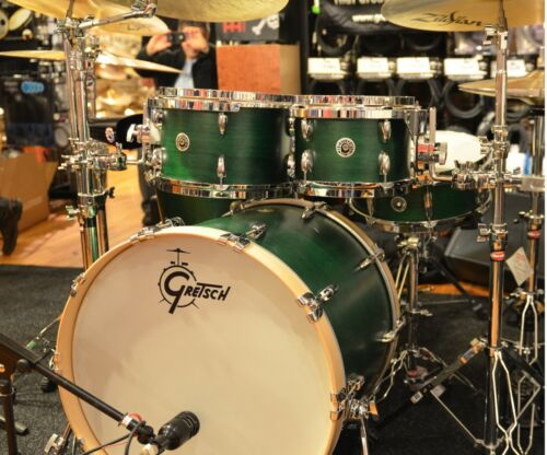 Gretsch Brooklyn USA Made Drum Set - 4pc Rock, Emerald Green Keith Carlock Kit!! in Musical Instruments & Gear, Percussion, Drums | eBay