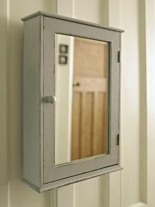 grey mirrored storage cabinet vintage shelf wall unit