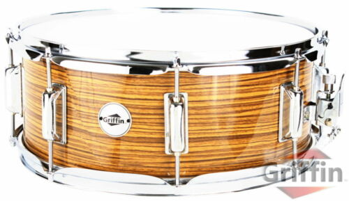 Griffin Snare Drum 14x5.5 Wood Shell Mahogany Percussion Poplar in Musical Instruments & Gear, Percussion, Drums | eBay