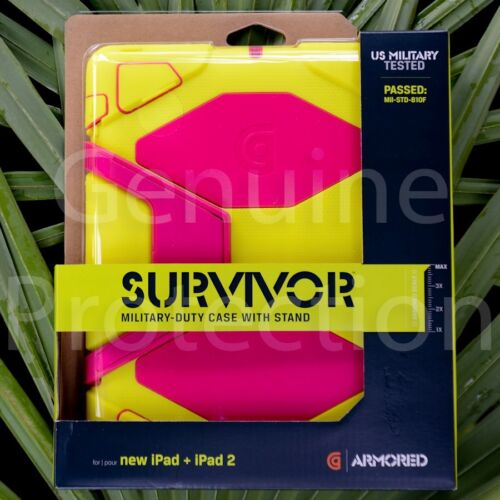 Griffin Survivor Extreme Duty Case w Stand New iPad 2 3 4 Yellow PinkGB35693 in Computers/Tablets & Networking, iPad/Tablet/eBook Accessories, Cases, Covers, Keyboard Folios | eBay
