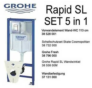 grohe rapid sl vorwandelement f r wand wc set 5 in 1 ebay. Black Bedroom Furniture Sets. Home Design Ideas