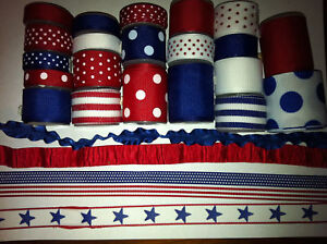 Grosgrain ribbon, Americana lot 31 yards size 1-1/2-3/8, 5/8 and 7/8 1/4 inch in Crafts, Multi-Purpose Craft Supplies, Ribbon & Bows | eBay