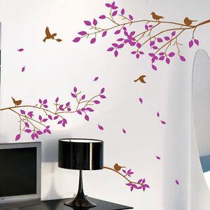 Große Baum Äste Vögel Wandkunst / Wand Sticker / Wand ...