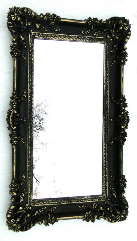 bilderrahmen schwarz gold barock spiegelrahmen 97x57. Black Bedroom Furniture Sets. Home Design Ideas