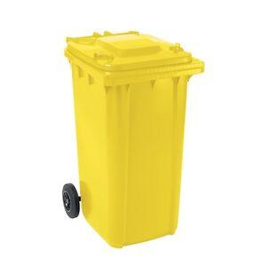 gro m lltonne m lltonne abfalltonne abfallbeh lter gmt 240 l gelb ebay. Black Bedroom Furniture Sets. Home Design Ideas