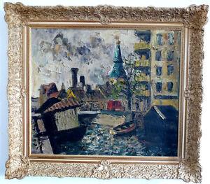 Grosstadtszene-Einer-Johansen-Expressionist-1961