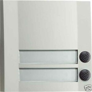 Grothe-Klingeltaster-Kontaktplatte-Domolux-2-Taster-weiss-schwarz-51203-Klingel