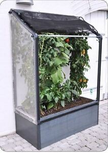 growcamp tomaten hochbeet 120x62x180 cm balkon anlehngew chshaus ebay. Black Bedroom Furniture Sets. Home Design Ideas
